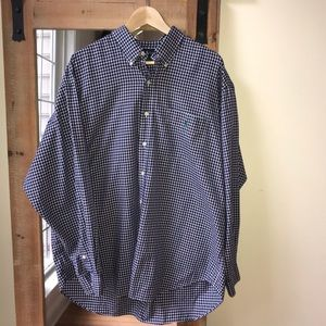 Polo by Ralph Lauren Navy Plaid Button Down